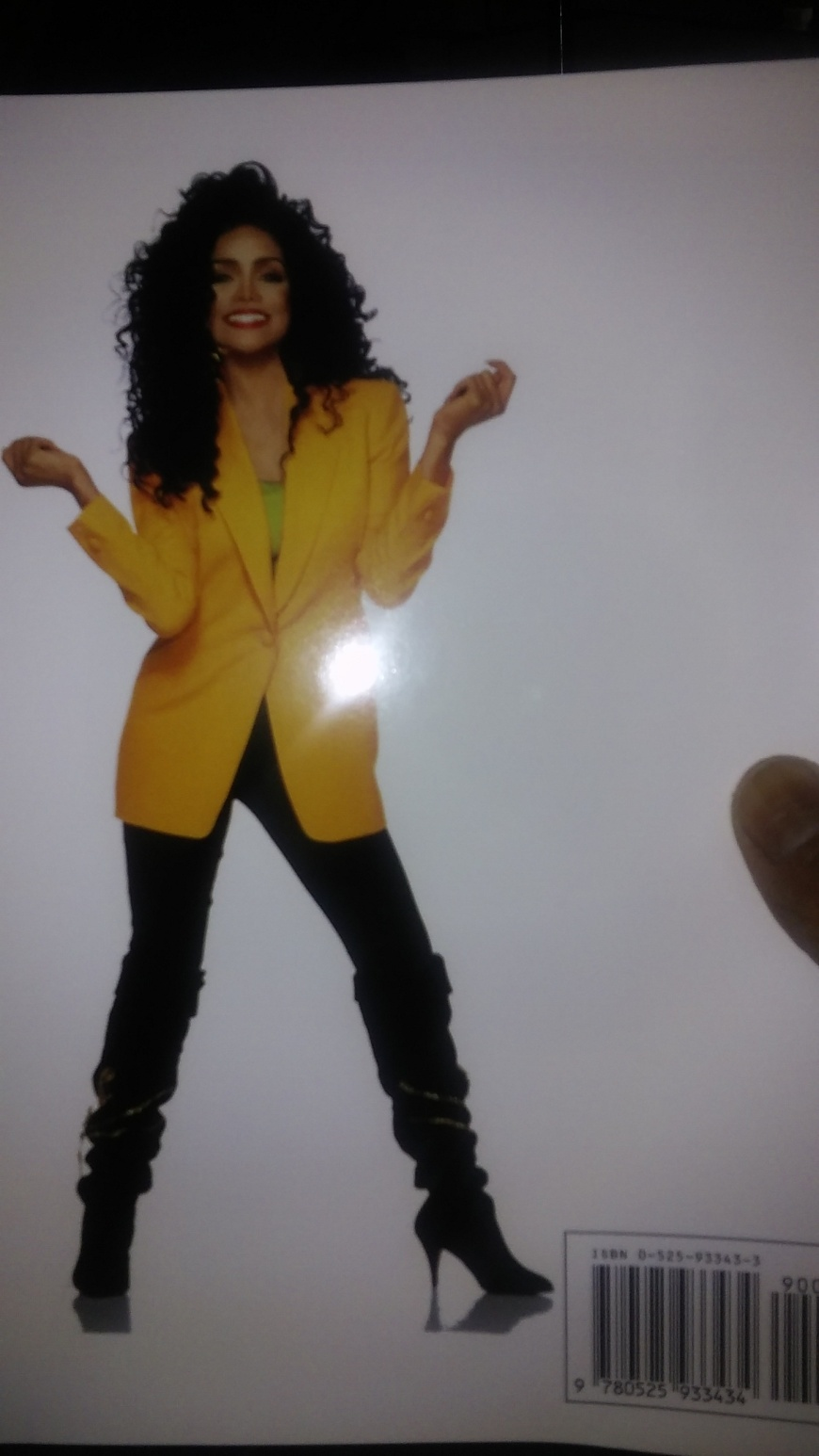 """This photo is part of a press kit that I purchased. This is Janet Jackson's famous sister Latoya Jackson. This press kit photo of Latoya Jackson accompanied her photo(I hope that I worded this right) that promoted her book titled 'Growing Up in the Jackson Family'       """" Latoya Latoya Jackson    with Patricia Romanowski"""""""